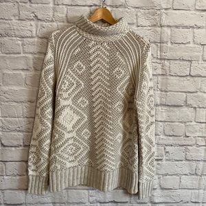 RD STYLE Chunky Knit Turtle Neck Sweater